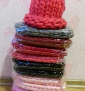 Модная шапка крупной вязки