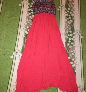 Длинное платье (можно на беременную) 44-46Р