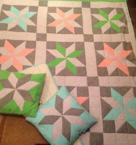 Дизайнерские Покрывало+подушки ручной работы