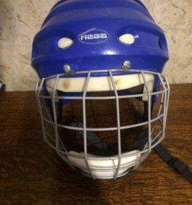 Хоккейная каска с защитной сеткой