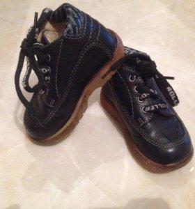 детские ботинки 21 р кожа  ботиночки