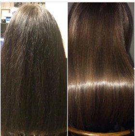 Кератирование волос выпрямление