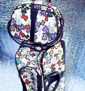 Дорожные сумки Tous кожа 2 шт чемодан