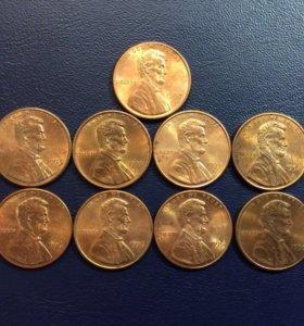 Монета США, 1 цент (90х)
