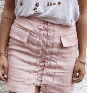 Замшевая юбка.