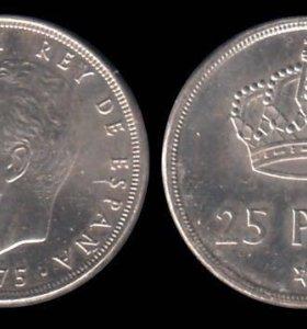 Испания 25 песет, 1975