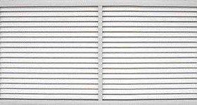 Решетка радиаторная пластиковая белая 600мм-1200мм