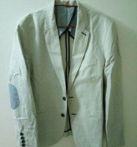 Пиджак мужской льняной XL