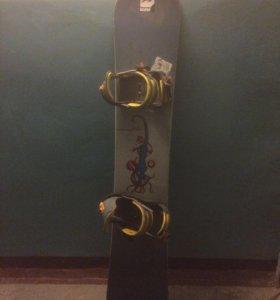 Сноуборд rossignol с ботинками