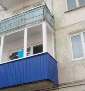 Балкон Рама ПВХ+ обшивка