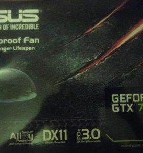 Видеокарта ASUS geforce GTX 750ti