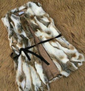 Меховая жилетка (M/L) Натуральный кролик