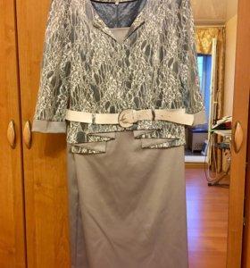 Новое праздничное платье 56-58