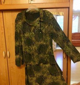 Новый костюм, кофта, туника, блузка, платье 58-60