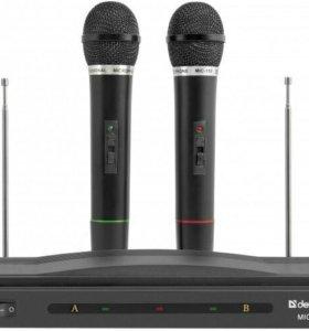 Новый Микрофон DEFENDER mic-155 ( 2 безпроводных