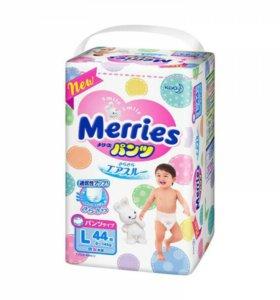 Трусики-подгузники Merries L 28шт
