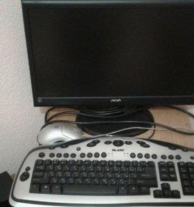 Компьютер +бесперебойник,мышь ,клавиатура