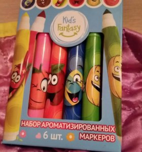 Набор ароматизированных маркеров 6 штук