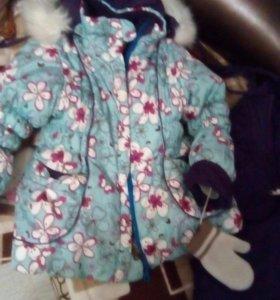 Зимняя куртка и комбез для девочки