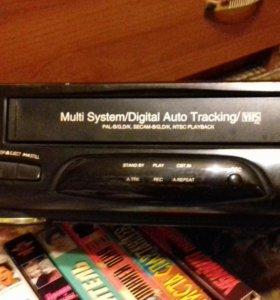 Видак и кассеты.