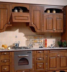 Кухня 325 см текстура орех