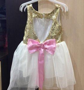 Праздничное платье для годовалой девочки