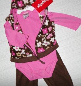 Новая одежда девочке 6 мес