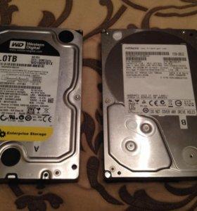 Дёсткие диски объёмом 1 терабайт