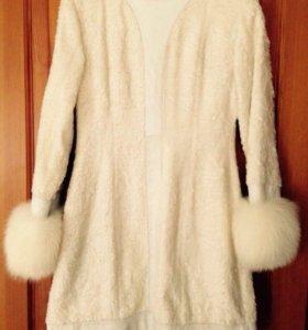 Пальто из Лисицы крашеной Фирма Balissa