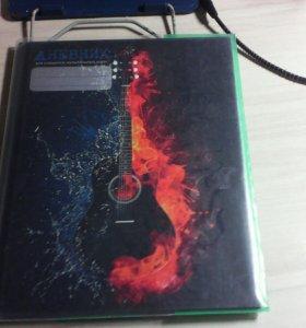 Музыкальный дневник в обложке
