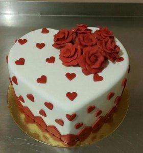 Торт сердечка 2,5кг