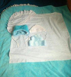 Одеяло на выписку для мальчика