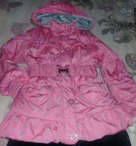 Куртка деми б/у 2-4года