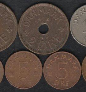 7 монет Дании