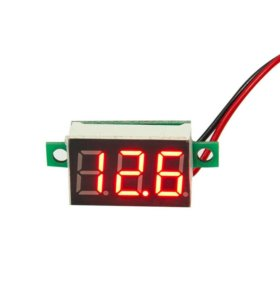 Цифровой вольтметр для аккумулятора