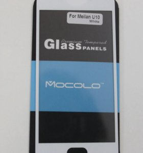 Защитное стекло 3D Full на Meizu U10, белое