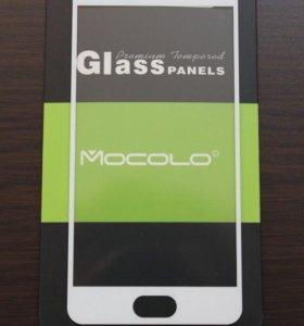 Защитное стекло 3D на Meizu M3S mini, белое