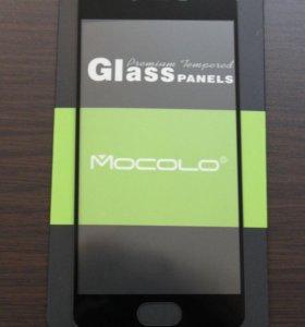 Защитное стекло 3D Full на Meizu M3S, черное