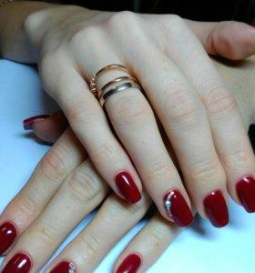 Наращивание ногтей, покрытие шеллаком