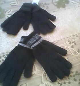 Новые Перчатки теплые обычные