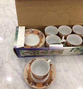 Набор кофейных чашек с блюдцами
