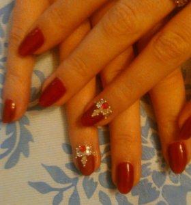 Маникюр, покрытие ногтей гель- лаком,дизайн