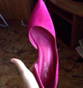 Туфли замшевые розовые