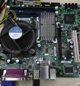 Intel материнка, проц, память.