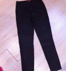 Новые брюки лосины темно серые 46р