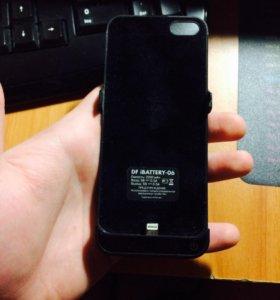 Чехол зарядка на iPhone 5,5s