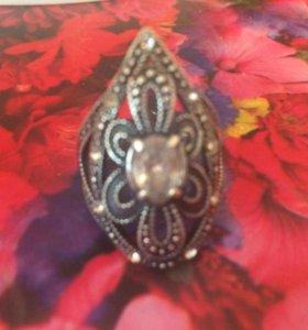 Кольцо черненое серебро