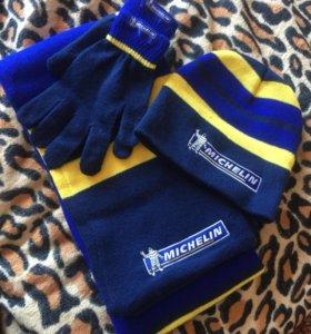 Шапка шарф перчатки