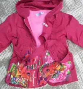 Куртка плащ на флисе