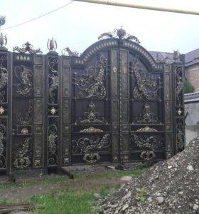 Ворота, двери , мангалы